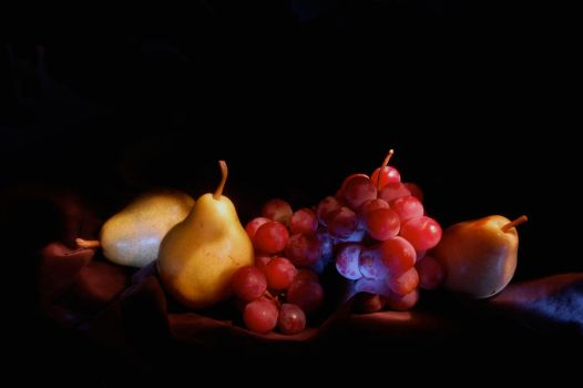Pears and Grapes by Lips16
