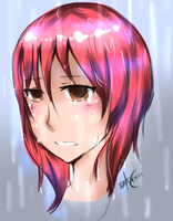 Crying in the rain.. by ama-chii