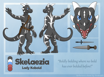 [Commission] Skelaezia Reference Sheet by Scaleeth