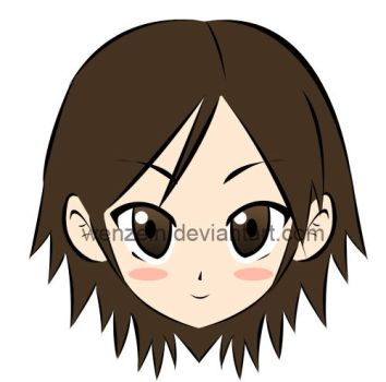 Hiroky chibi face by Wenzelray