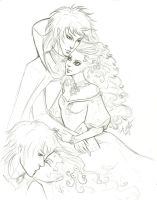 Sweet Kiss Sarah and Jareth by misschievious