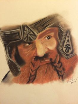 Gimli chalk pastel by fangy89