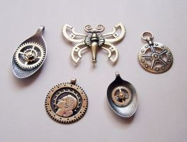 Clockpunk pendants 5 by Astalo