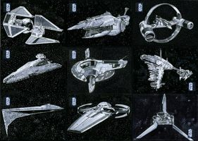 Star Wars Ships-Vehicle Sketchcards Topps #2 by SteveStanleyArt