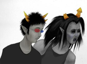 Sollux and Equis are not amused by pickledshoe