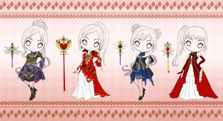 Adoptable#7: Cards Chibi [open] by Eranthe