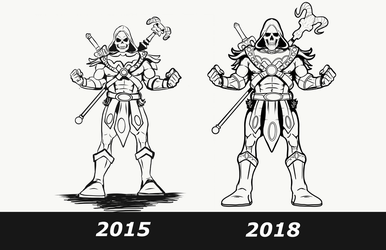 Skeletor then now by stourangeau