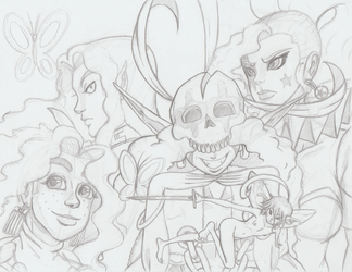 The Cast of The Star Jester Sketched by Shane-Emeraldwing
