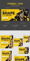 Fitness / Gym Ad Banners by webduckdesign