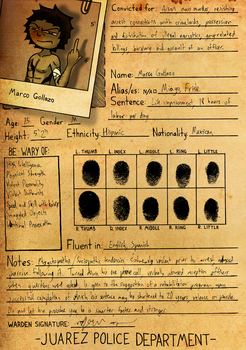 Frisk's Criminal Record (Bio) by TheComicGuys