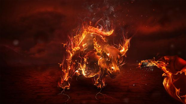 Corrida in flames by adomas