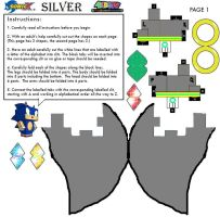 Silver The Hedgehog Cubee Part 1 by sonicthehedgehogarts