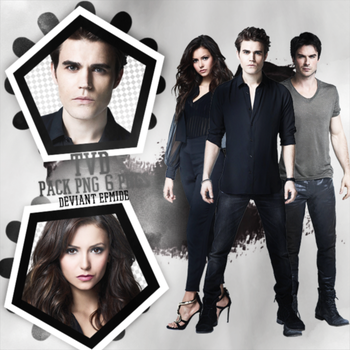 The Vampire Diaries (TDV)  6 HQ Png Pack by efmide