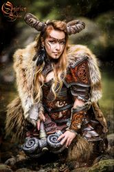 Photoshoot 2015 : Celtic battle faun 3 by Deakath