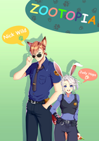Nick and Judy's fanart by superwhale174
