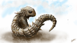 Armadilo Guilded Lizard by alexism77