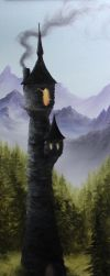 Wizard's Tower (Unfinished) by crazycolleeny