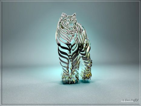 Tigre calligraphie by iskander71