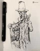 Dealer - Inktober by Facu-Moreno