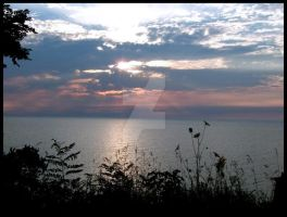 Sunset Over Lake Michigan by FallingToPieces