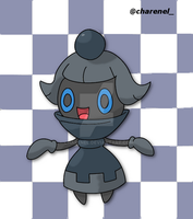 Chespawn black (fakemon) by Charenel