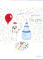 Droopy's 75th Birthday by SHREKRULEZ