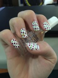 Xmas wrapping paper style nail art 2 by Goddess-Suicune