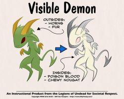Visible Demon Wallpaper by SillyVamp