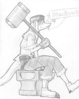 FFTA Class Design: Blacksmith by L-Rossfellow
