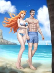 At the beach by NAMIxALEX