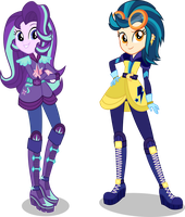 [AU] Motocross Starlight Glimmer and Indigo Zap by LimeDazzle