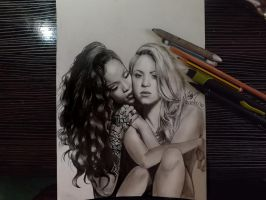 Rihanna and Shakira by Williaaaaaam