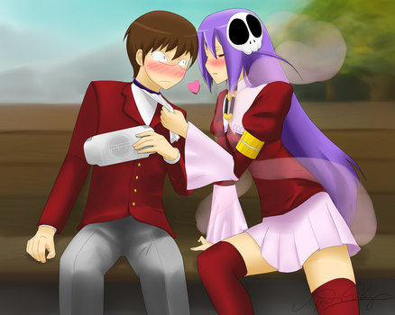 TWGOK Fanart - Keima and Haqua by DaEliminator
