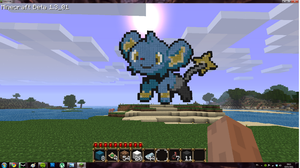 Minecraft Shinx by rocketjumpwaltz