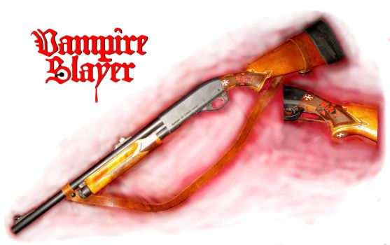 Vampire hunting Shotgun by vonmeer