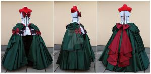 Rococo Sailor Pluto set details by lady-narven