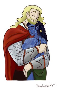 February Doodle Love - Day 01 - Thor and Loki by trapped-in-eternity