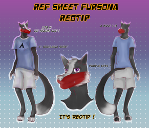 Ref Sheet Fursona for Reotip  by FaridCreator