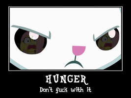 My Little Bunny Hunger Demotivational by DiggerEl7
