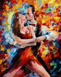 In The Rhythm Of Tango 2 by Leonid Afremov by Leonidafremov