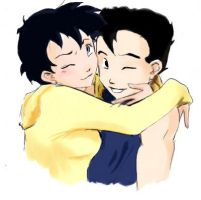 Gohan and Videl teenargers by Sooz88