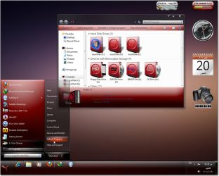 Night red 7 theme by fares123