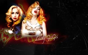 Lady GaGa Wallpaper 01 by GodrevyPoint