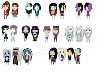 'Human' Oc's Group Picture #1 by ShevaThunder