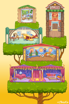 Tiny Pets Rooms 2 by zarry