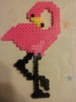 Perler Art - Flamingo by amandaluvsya