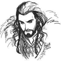 Thorin Sketch by Dylan-Virtue2Vice