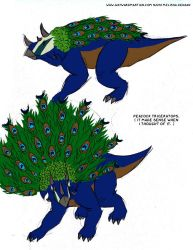 Peacock Triceratops by WaywardInsecticon