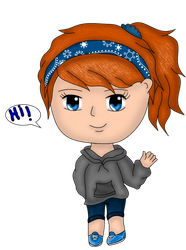 Chibi version of me updated by kyliesmiley1998