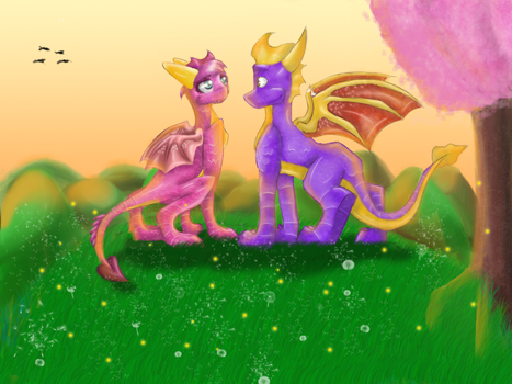 .spyro and ember by Crystal-TD